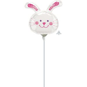 "M.14"" BUNNY HUG HEAD WHITE"