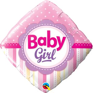 "18""M.BABY GIRL DOTS&STRIPES"