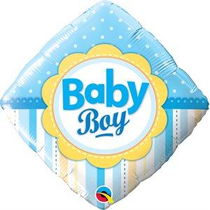 M .18'' BABY BOY DOTS&STRIPES