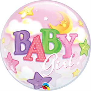M.22'' BABY GIRL MOON&STARS BUBBLES