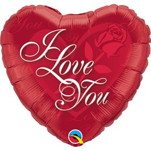 """18""""M. I LOVE YOU RED ROSE"""