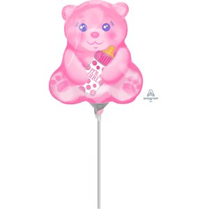 M.14'' BABY GIRL BEAR WITH BOTTLE