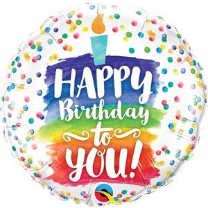 M. 18'' HAPPY BIRTHDAY TO YOU CAKE