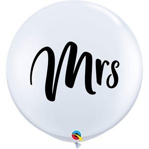 "36""""B. MRS WHITE"