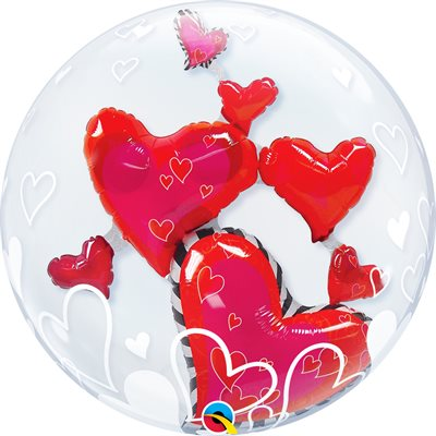 LOVELY FLOATING HEARTS BUBBLES
