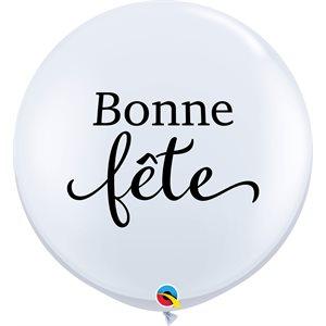 B.36'' BONNE FETE BLANC